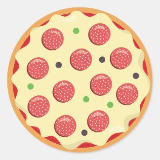 Pepperoni pizza sticker party fun