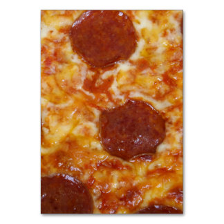 Pepperoni Pizza Table Card