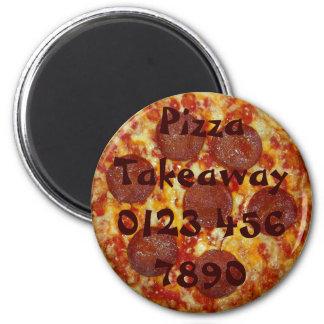 Pepperoni Pizza Takeaway Reminder Magnet