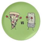Pepperoni Pizza VS Burrito: Mexican versus Italian Plate