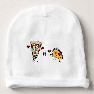 Pepperoni Pizza VS Taco: Mexican versus Italian Baby Beanie