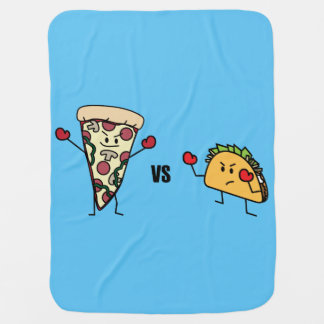 Pepperoni Pizza VS Taco: Mexican versus Italian Baby Blanket