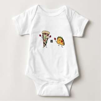 Pepperoni Pizza VS Taco: Mexican versus Italian Baby Bodysuit