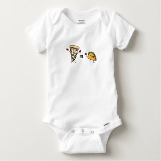 Pepperoni Pizza VS Taco: Mexican versus Italian Baby Onesie