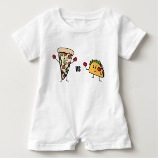 Pepperoni Pizza VS Taco: Mexican versus Italian Baby Romper
