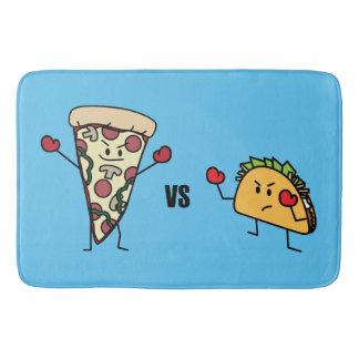 Pepperoni Pizza VS Taco: Mexican versus Italian Bath Mat