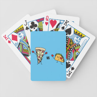 Pepperoni Pizza VS Taco: Mexican versus Italian Bicycle Playing Cards