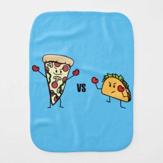 Pepperoni Pizza VS Taco: Mexican versus Italian Burp Cloth