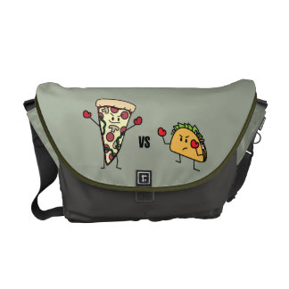 Pepperoni Pizza VS Taco: Mexican versus Italian Commuter Bag