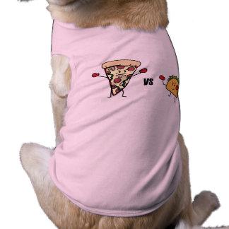 Pepperoni Pizza VS Taco: Mexican versus Italian Doggie Shirt
