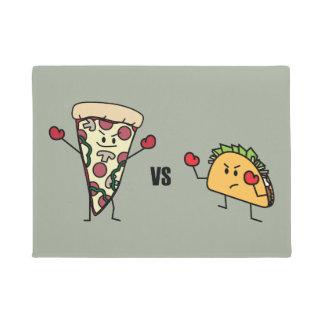 Pepperoni Pizza VS Taco: Mexican versus Italian Doormat