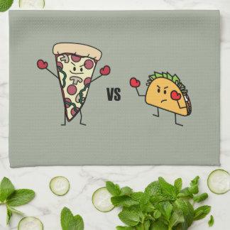 Pepperoni Pizza VS Taco: Mexican versus Italian Kitchen Towel
