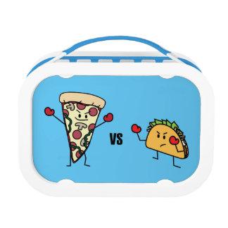 Pepperoni Pizza VS Taco: Mexican versus Italian Lunch Box