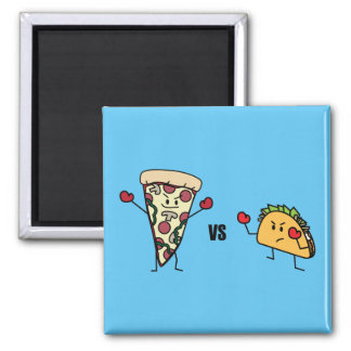 Pepperoni Pizza VS Taco: Mexican versus Italian Magnet