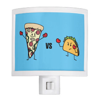 Pepperoni Pizza VS Taco: Mexican versus Italian Nite Lites