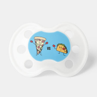 Pepperoni Pizza VS Taco: Mexican versus Italian Pacifier