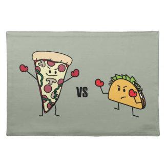 Pepperoni Pizza VS Taco: Mexican versus Italian Placemat