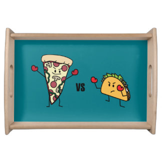 Pepperoni Pizza VS Taco: Mexican versus Italian Serving Tray