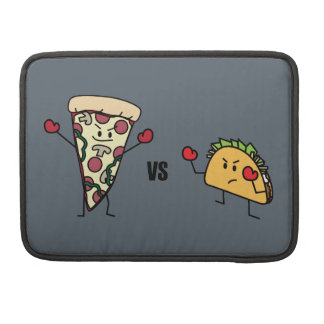 Pepperoni Pizza VS Taco: Mexican versus Italian Sleeves For MacBook Pro