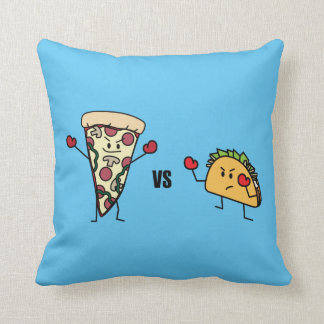 Pepperoni Pizza VS Taco: Mexican versus Italian Throw Pillow