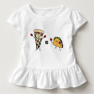 Pepperoni Pizza VS Taco: Mexican versus Italian Toddler T-shirt