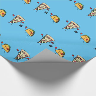 Pepperoni Pizza VS Taco: Mexican versus Italian Wrapping Paper