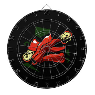 Peppers abstract square graphic dart board
