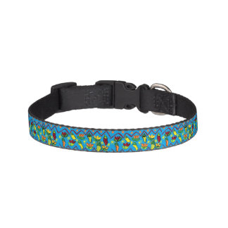 peppers and flowers pet collar