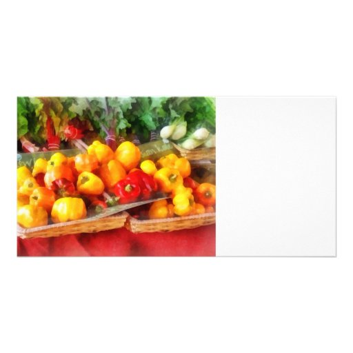 Peppers at Farmers Market Photo Greeting Card