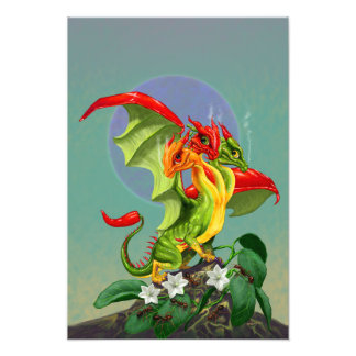 Peppers Dragon 13x19 Print
