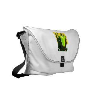 Peppers green and yellow on yellow bg courier bags