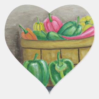 peppers heart sticker
