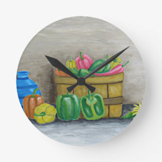 peppers round clock