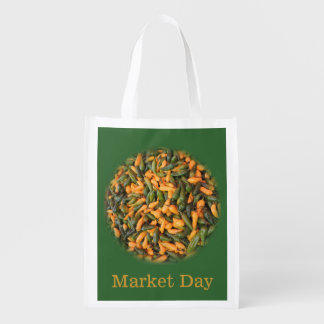Peppers - Yellow and Green -Organic Market Day Reusable Grocery Bag