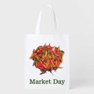 Peppers - Yellow Red and Green -Organic Market Day Grocery Bag