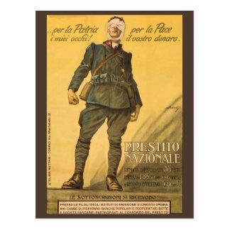 Per la Patria i miei occhi! Per la Pace il vostro Postcard
