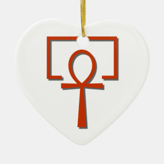 perAnch Haus house Anch Ankh Ceramic Heart Ornament
