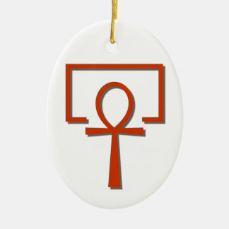 perAnch Haus house Anch Ankh Ceramic Oval Ornament