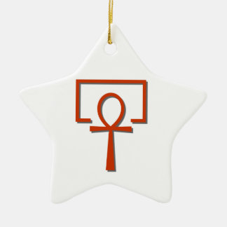 perAnch Haus house Anch Ankh Ceramic Star Ornament