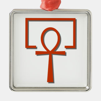perAnch Haus house Anch Ankh Silver-Colored Square Ornament