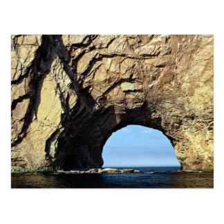 Perce Rock, Gaspe, Quebec, Canada rock formation Postcard