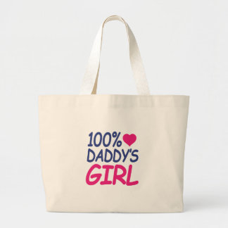 percent Daddy's girl Large Tote Bag