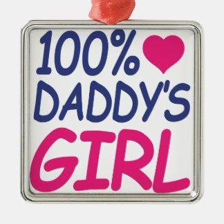 percent Daddy's girl Metal Ornament