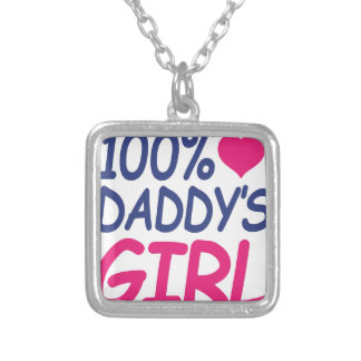 percent Daddy's girl Silver Plated Necklace