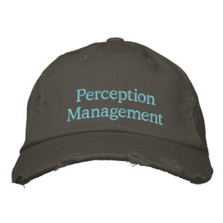 Perception Management Embroidered Hat