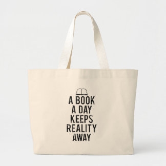 Perception of life large tote bag