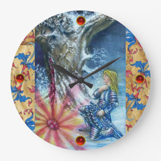 PERCEVAL AND VISION OF THE HOLY GRAIL LARGE CLOCK