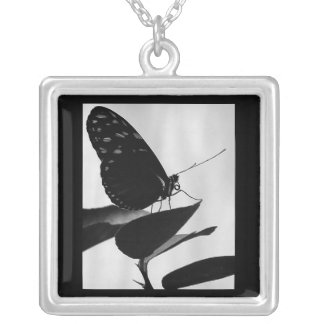 Perched ~Lovely Sterling Silver Butterfly Necklace