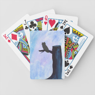 Perched Owl Bicycle Playing Cards