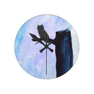 Perched Owl Clocks
